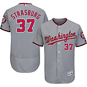 Majestic Men's Authentic Washington Nationals Stephen Strasburg #37 Road Grey Flex Base On-Field Jersey