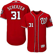 Majestic Men's Authentic Washington Nationals Max Scherzer #31 Alternate Red Flex Base On-Field Jersey