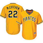 Majestic Men's Replica Pittsburgh Pirates Andrew McCutchen #22 Cool Base Alternate Gold Jersey