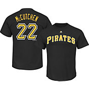 Majestic Men's Pittsburgh Pirates Andrew McCutchen #22 Black T-Shirt