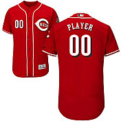 Majestic Men's Full Roster Authentic Cincinnati Reds Flex Base Alternate Red On-Field Jersey