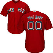 Majestic Men's Custom Cool Base Replica Boston Red Sox Alternate Red Jersey