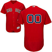 Majestic Men's Custom Authentic Boston Red Sox Flex Base Alternate Red On-Field Jersey