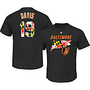 Majestic Men's Baltimore Orioles Chris Davis #19 Black State Flag T-Shirt