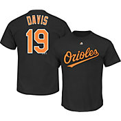 Majestic Men's Baltimore Orioles Chris Davis #19 Black T-Shirt