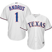 Majestic Men's Replica Texas Rangers Elvis Andrus #1 Cool Base Home White Jersey