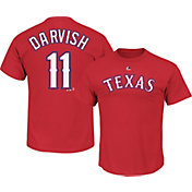 Majestic Men's Texas Rangers Yu Darvish #11 Red T-Shirt