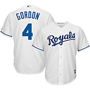 Majestic Men's Replica Kansas City Royals Alex Gordon #4 Cool Base Home White Jersey
