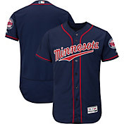 Majestic Men's Authentic Minnesota Twins Alternate Navy Flex Base On-Field Jersey