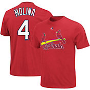 Majestic Youth St. Louis Cardinals Yadier Molina #4 Red T-Shirt