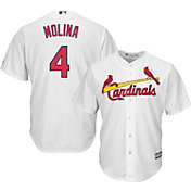 Majestic Youth Replica St. Louis Cardinals Yadier Molina #4 Cool Base Home White Jersey