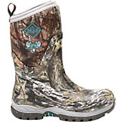 Muck Boot Women's Girls With Guns Arctic Hunter Mid Mossy Oak Break-Up Rubber Hunting Boots