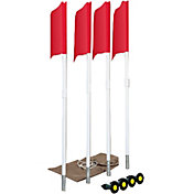 Markers Inc. Spring Loaded Soccer Corner Flags – 4 Pack