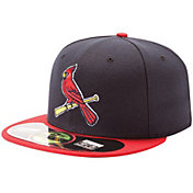 New Era Men's St. Louis Cardinals 59Fifty Alternate 2 Navy Authentic Hat