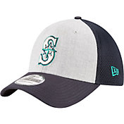 New Era Men's Seattle Mariners 39Thirty Heather Grey Neo Stretch Fit Hat