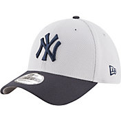 New Era Men's New York Yankees 39Thirty Diamond Era Grey Stretch Fit Hat