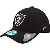 New Era Men's Oakland Raiders League 9Forty Adjustable Black Hat