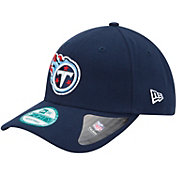 New Era Men's Tennessee Titans League 9Forty Adjustable Navy Hat
