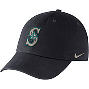 Nike Men's Seattle Mariners Dri-FIT Navy Heritage 86 Stadium Adjustable Hat
