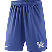 Nike Men's Kentucky Wildcats Blue Knit Football Sideline Performance Shorts