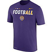 Nike Men's LSU Tigers Purple FootbALL Sideline Legend T-Shirt