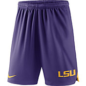 Nike Men's LSU Tigers Purple Knit Football Sideline Performance Shorts
