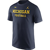 Jordan Men's Michigan Wolverines Blue Football Sideline Facility T-Shirt