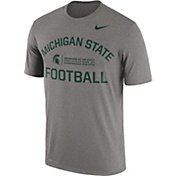 Nike Men's Michigan State Spartans Grey Lift Football Legend T-Shirt