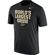 Nike Men's Purdue Boilermakers 'World's Largest Drum' Authentic Local Legend Black T-Shirt