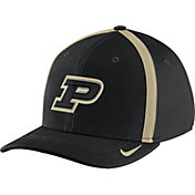 Nike Men's Purdue Boilermakers Black Aerobill Swoosh Flex Classic99 Football Sideline Hat