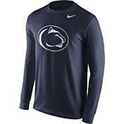 Nike Men's Penn State Nittany Lions Blue Logo Long Sleeve Shirt