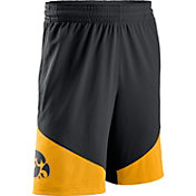 Nike Men's Iowa Hawkeyes Black/Gold New Classics Basketball Shorts