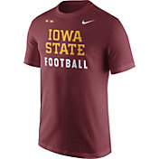 Nike Men's Iowa State Cyclones Cardinal Football Sideline Facility T-Shirt