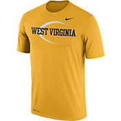 Nike Men's West Virginia Mountaineers Gold Football Icon Legend T-Shirt