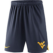 Nike Men's West Virginia Mountaineers Blue Knit Football Sideline Performance Shorts