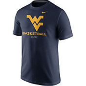 Nike Men's West Virginia Mountaineers Blue University ELITE Basketball T-Shirt