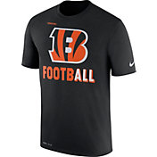 Nike Men's Cincinnati Bengals Sideline 2017 Legend Football Performance Black T-Shirt