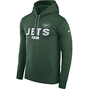 Nike Men's New York Jets Sideline 2017 Therma-FIT Green Performance Hoodie