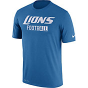 Nike Men's Detroit Lions All Football Legend Blue T-Shirt