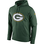 Nike Men's Green Bay Packers Performance Circuit Logo Essential Green Hoodie