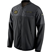 Nike Men's Pittsburgh Steelers Salute to Service 2016 Hybrid Black Jacket