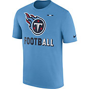 Nike Men's Tennessee Titans Sideline 2017 Legend Football Performance Blue T-Shirt