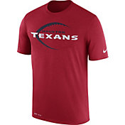 Nike Men's Houston Texans Legend Football Icon Performance Red T-Shirt