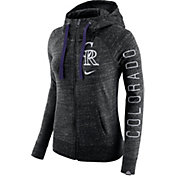 Nike Women's Colorado Rockies Vintage Black Full-Zip Hoodie