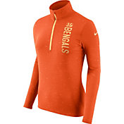 Nike Women's Cincinnati Bengals Element Quarter-Zip Performance Orange Top
