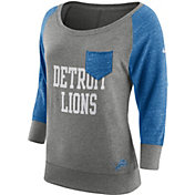 Nike Women's Detroit Lions Tailgate Vintage Crew Grey Long Sleeve Shirt