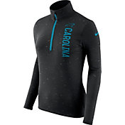 Nike Women's Carolina Panthers Element Quarter-Zip Performance Black Top
