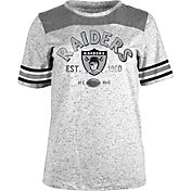 5th & Ocean Women's Oakland Raiders Peppercorn Throwback Grey T-Shirt