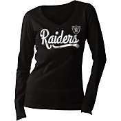 5th & Ocean Women's Oakland Raiders Long Sleeve Black Shirt