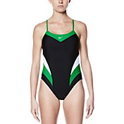 Nike Women's Victory Color Block Cut-Out Tank Swimsuit